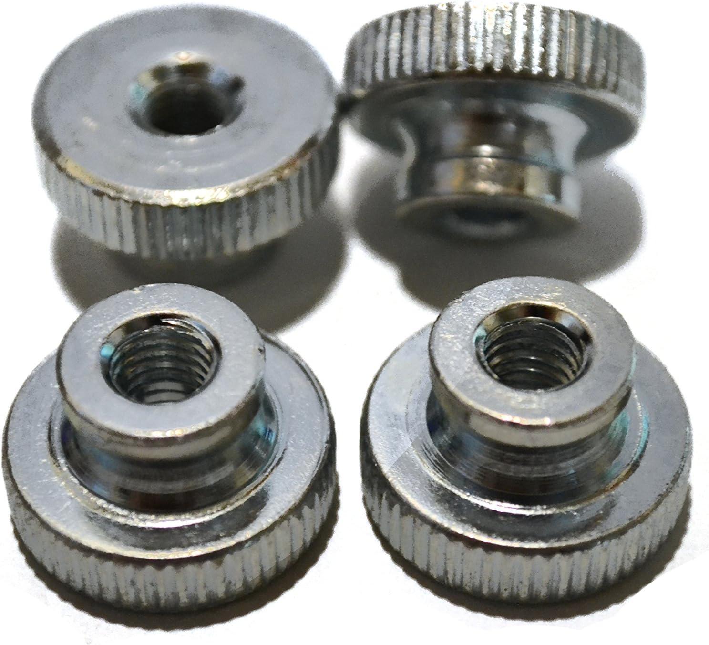 Set of 4 M6 Zinc Knurled Luxury goods overseas Plated Steel Thumb Knobs
