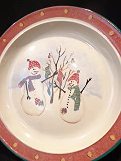 ROYAL SEASONS SNOWMAN Stoneware Dinner Plate 10