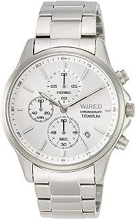 [セイコーウォッチ] 腕時計 ワイアード クロノグラフ付き チタンモデル シルバー文字盤 ハードレックス AGAT427 メンズ シルバー
