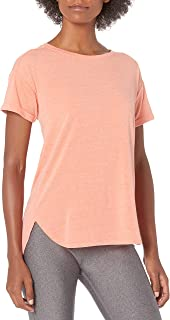 Amazon Essentials Camiseta de Cuello Redondo Ligera para Mujer Studio