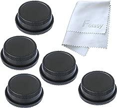 (5 Packs) Fotasy Rear Lens Cover Camera Body Cap for Nikon F-Mount DSLR Camera Lenses, Nikon DSLR Lens Rear Cap Body Cap