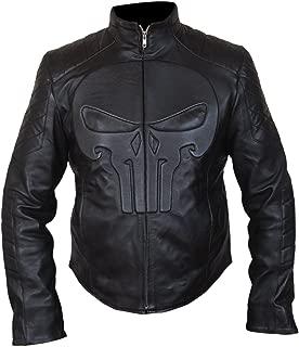 F&H Men's Frank Castle Punisher Skull Biker Jacket