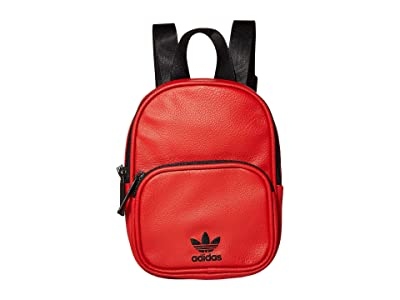 adidas Originals Originals Mini PU Leather Backpack (Scarlet/Black) Backpack Bags