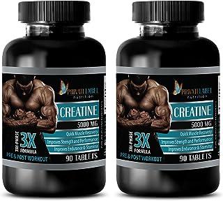 Enhancement Pills All Natural - CREATINE TRI-Phase - 3X Formula - PRE & Post Workout - creatine hcl Pills - 2 Bottles (180...