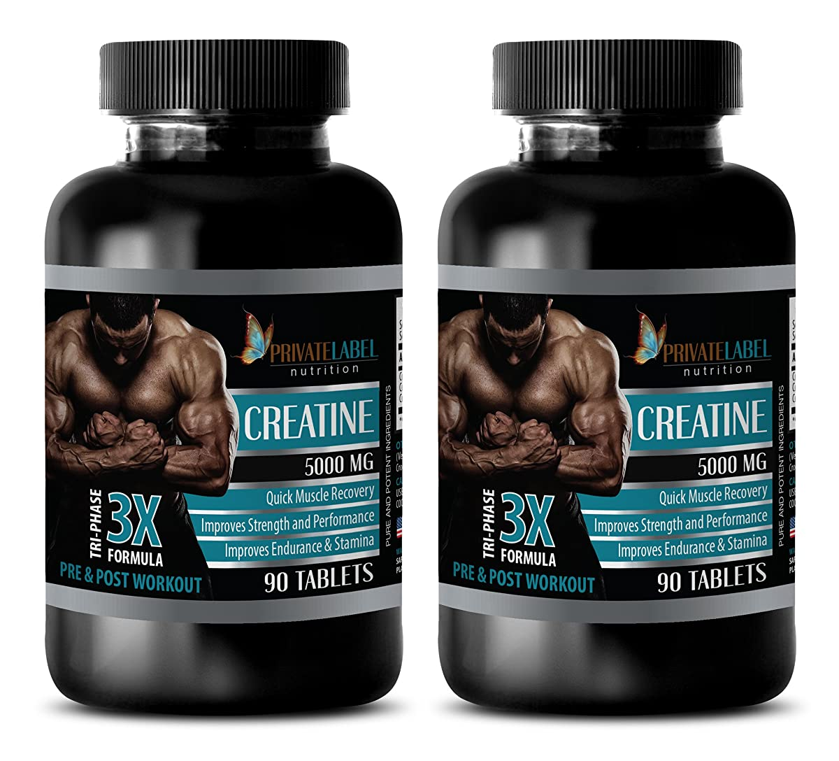 fat loss supplement - CREATINE TRI-PHASE - 3X FORMULA - PRE & POST WORKOUT - creatine in pill form - 2 Bottles (180 Tablets)