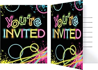 Glow Party Invitations, 24 ct