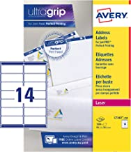 Avery Self Adhesive Address Mailing Labels, Laser Printers, 14 Labels Per A4 Sheet, 3500 Labels, QuickPEEL (L7163)