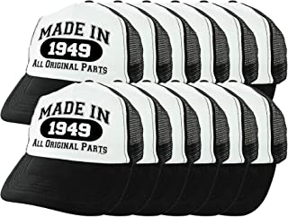 70th Birthday Gifts Made in 1949 All Original Parts 70 Birthday Hat Funny  Birthday Trucker Hat 67eed5b038de