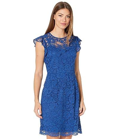LAUREN Ralph Lauren Opheliara Sleeveless Day Dress (Summer Sapphire) Women