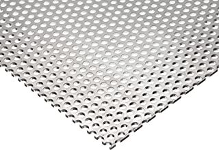 Perforated Aluminum Sheet 6 x 12.063-1//16 Thick 1//4 Round Hole Type 3003-H14