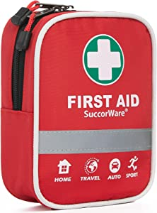 130 Pieces First Aid Kit with Hospital Grade Medical Supplies - Includes Emergency Blanket, Bandage - Great for Home, Outdoors, Office, Car, Travel, Camping, Hiking, Boating