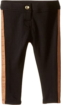 Ponti Leggings with Faux Suede Side Panels (Infant)
