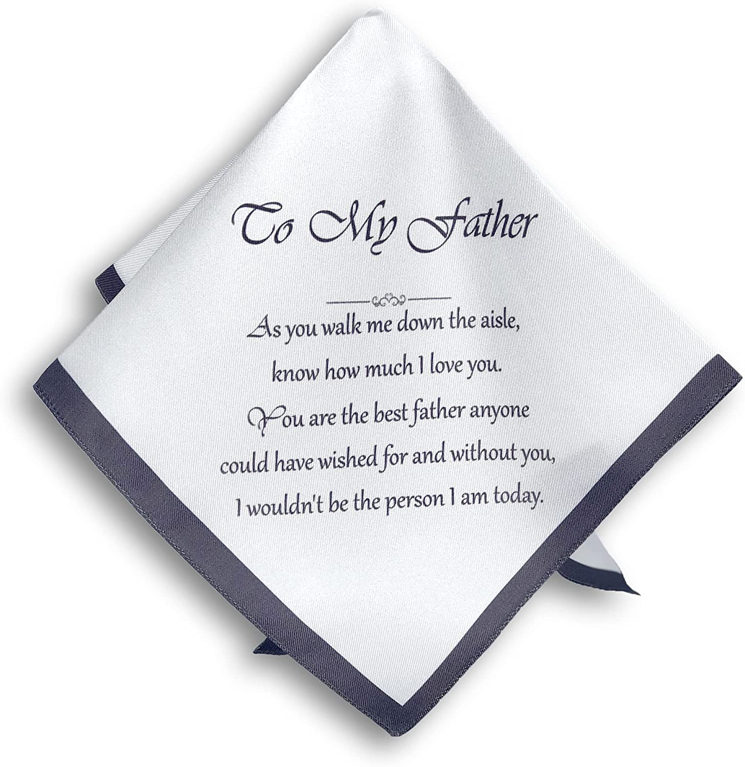 Father of the Bride Handkerchief – Pure Italian Silk – In Gift Box - Wedding Gift for Parents TOKENS WITH LOVE