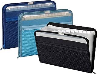 Pendaflex Expanding File with Zipper Closure, 13 Pockets, Letter Size, Assorted Colors, 1 Each (84087)