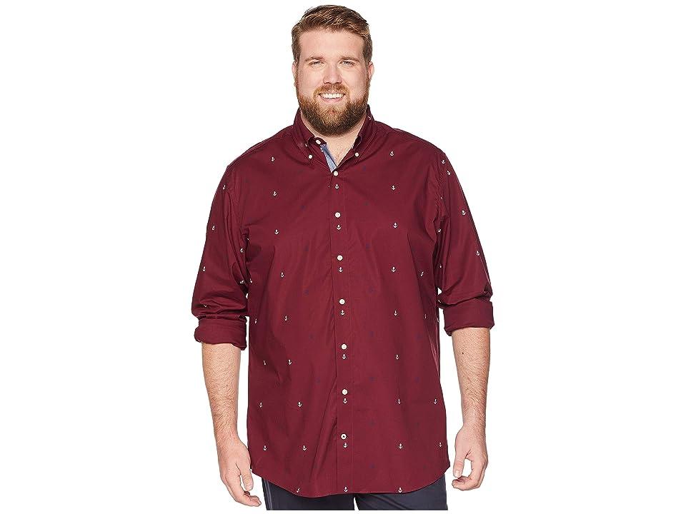 Nautica Big & Tall Big Tall Stretch Oxford Shirt (Zinfandel) Men