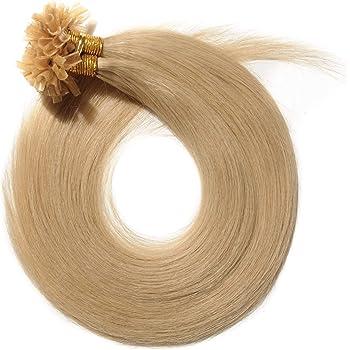 SEGO Pre Bonded U Tip Hair Extensions Human Hair 100 Strands Keratin Fushion Nail Tip Human Hair Extensions 100% Real Remy Hair Silky Straight #24 Natural Blonde 20 inches 50g