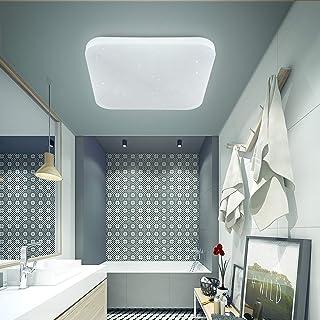 LUSUNT Lámpara de Techo Plafón LED Luz de Techo para Cocina Baño Habitación Balcón Pasillo Lamparas de Techo Modernas Impermeable 6000K 2050lm 26W
