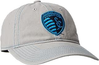 MLS Sporting Kansas City Adult Women MLS SP17 Neon Logo Adjustable Slouch Cap,Osfa,Gray