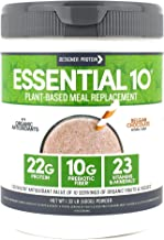 Designer Protein Essential 10, Belgian Chocolate, 1.32 Pound, Plant Based Meal Replacement Protein Powder