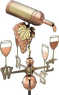 Good Directions Wine Bottle Weathervane, Pure Copper