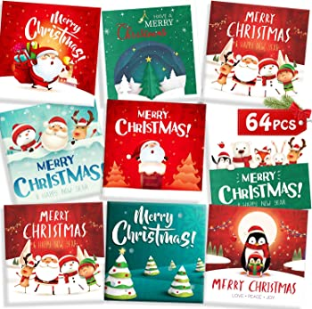 64-Piece Christmas Gift Card Money Holders Set