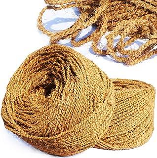 MW.Shop.24 Kokosseil/Kokosgarn Baumbinder - 5mm / 50m - 100% BIOLOGISCH - Baumanbinder aus Kokosfaser - ungefärbte Naturfaser
