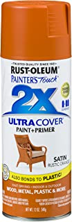 Rust-Oleum 314753 Painter's Touch 2X Ultra Cover, 12 oz, Rustic Orange