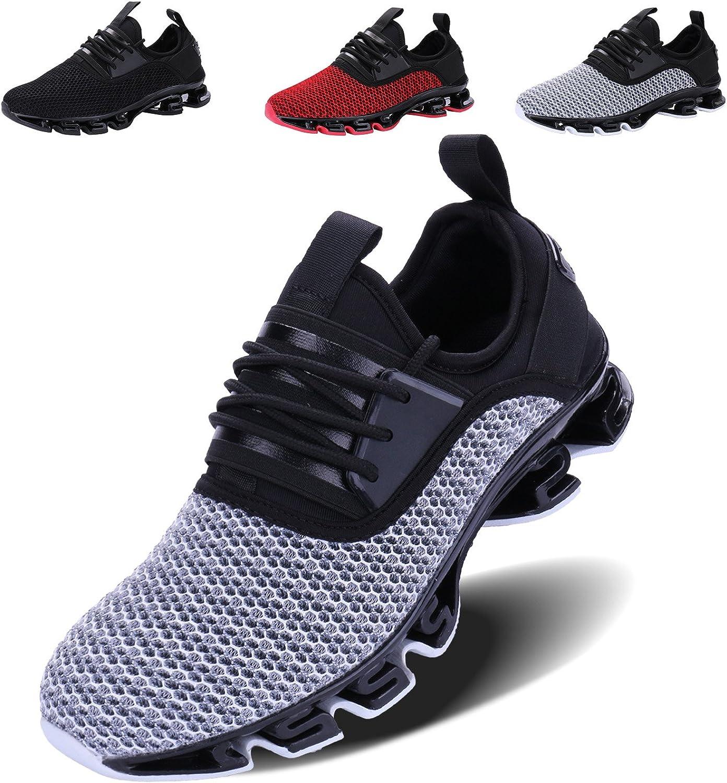 VOEN Casual gående skor skor skor Man Blade utomhus Sport skor Mes Andable mode skor grå Storlek 44  grossist billig och hög kvalitet