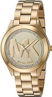 Women's Mini Slim Runway Gold Watch MK3477