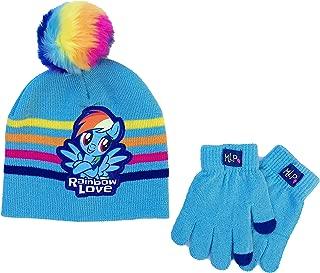 My Little Pony Rainbow Dash Girls Beanie Hat and Gloves Set