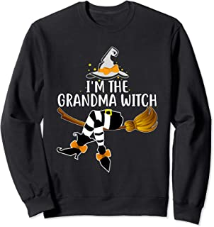 I'm the Grandma Witch Shirt Women Family Halloween Gifts Sweatshirt