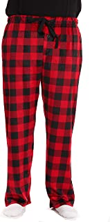 #followme Microfleece Men's Plaid Pajama Pants with Pockets