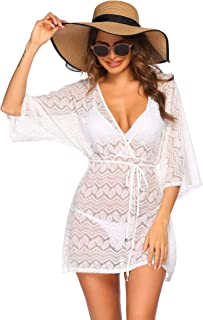 Hotouch Women's Summer Sexy Chiffon Beach Cover up Swimsuit Bathing Suit Cover Dress Beachwear