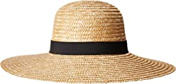 WSH1108 Round Crown Wheat Straw Sun Brim