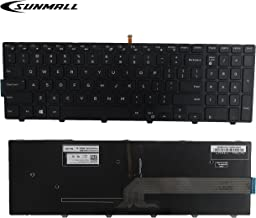 SUNMALL New Laptop Notebook Replacement Keyboard with Backlit Compatible with Dell Inspiron 15 3000 3541 3542 3552 5000 5547 Black US Layout(6 Months Warranty)