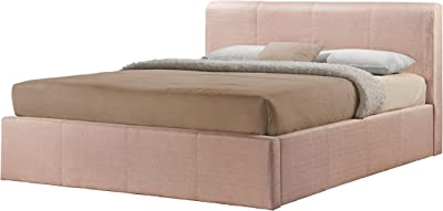 Superb Ottoman Double Storage Bed Upholstered In Faux Leather 4Ft Short Links Chair Design For Home Short Linksinfo