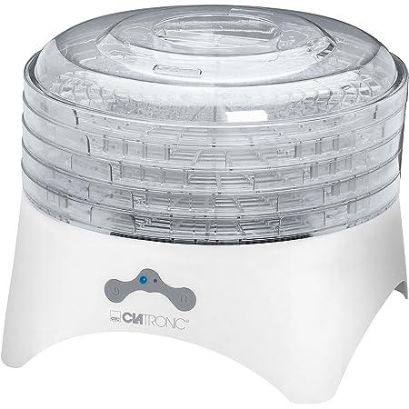 Clatronic DR 3525 Deshidratador de alimentos, 2 niveles temperatura, 5 bandejas, 300 W, 320 W, Plástico, Blanco
