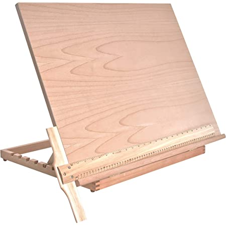 """US Art Supply Extra Large Adjustable Wood Artist Drawing & Sketching Board 26"""" Wide x 21"""" Tall"""