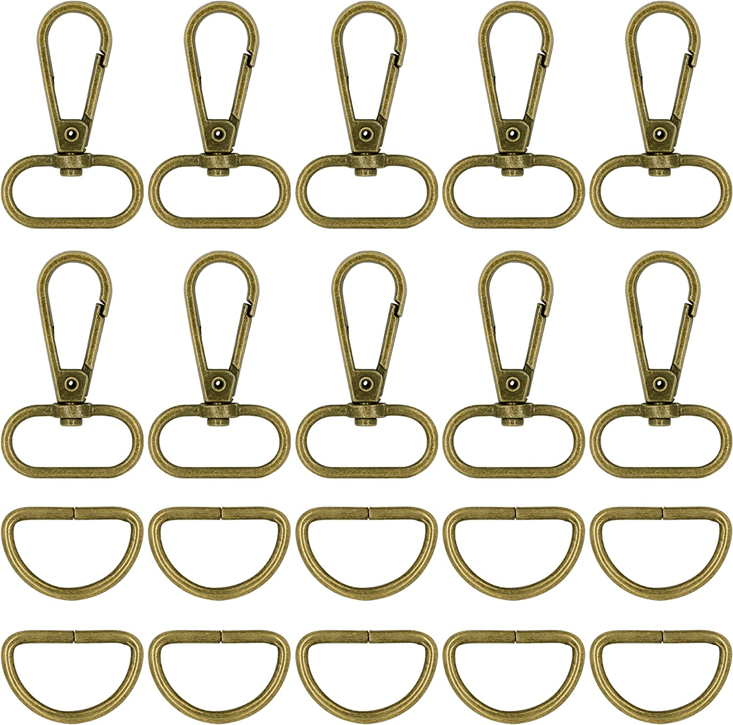 STORALIT 60 Pcs Keychain Bulk with Rolle 100% quality warranty Clip Credence Swivel Hook Slides
