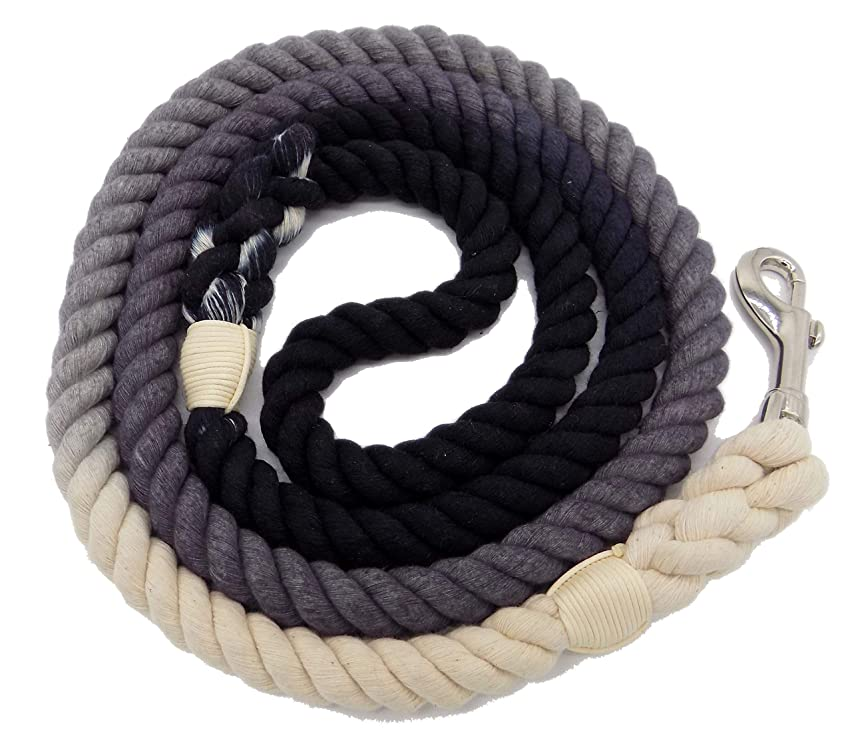 Sier 5ft Multi-Colored Braided Ombre Cotton Heavy Duty Strong Durable Rope Dog Leash