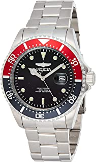 Men's Pro Diver Quartz Diving Watch with Stainless-Steel Strap, Silver, 22 (Model: 23384)