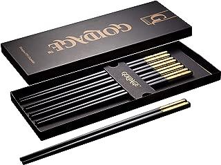 Goldage 5-Pairs Fiberglass Dishwasher-safe Chopsticks - Millennium Gold