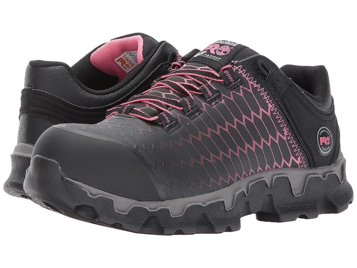 先駆者自然考古学[Timberland(ティンバーランド)] レディースウォーキングシューズ?カジュアルスニーカー?靴 Powertrain Sport Alloy Safety Toe EH Black/Pink Raptek 6 (23cm) C - Wide [並行輸入品]