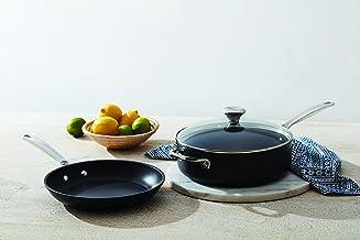 """Le Creuset Toughened Nonstick PRO Cookware Set, 3 pc. (10"""" Fry Pan, 4.25 qt. Saute Pan with Lid)"""