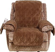 كرسي عريض على شكل حوت من شورفيت، غطاء للأثاث، لون بني