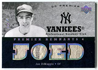 2007 Upper Deck UD Premier Remnants 4 Quad Masterpiece New York Yankees Joe DiMaggio Rare Pinstripe Jersey Patch Card Serial Numbered 1/1