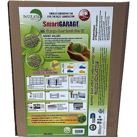 SmartGARAGE- Reflective Garage Door Insulation Kit 2 car - 18'W x 7'H (Reflective/White)