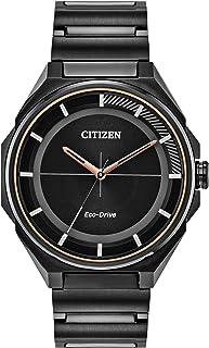 تسمه فولادی ضد زنگ کوارتز مردانه Citizen ، مشکی ، 22 ساعت معمولی (مدل: BJ6535-51E)