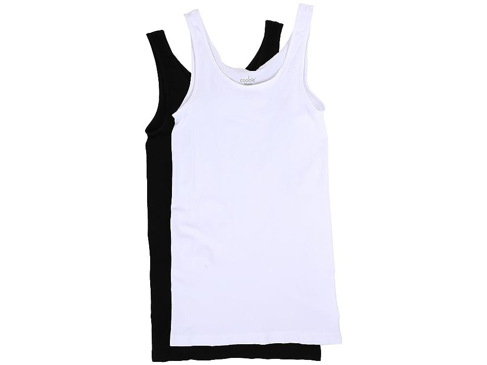 Coobie Wide Strap Cami 2-Pack (Black/White) Women