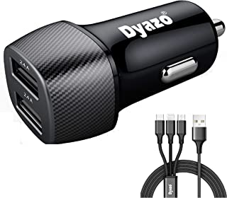 Dyazo 4.8 Amp (2.4 & 2.4 Amp) Dual Port Fast Car Charger Compatible with iPhone XR/Xs/Max/X/8/7/Plus, Ipad Pro/Air 2/Mini,...